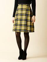 【秋の新作】《ef-de》チェックAラインスカート