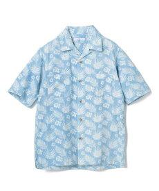 【SALE/50%OFF】RATTLE TRAP ハイビスカス柄オープンカラーシャツ メンズ ビギ シャツ/ブラウス 長袖シャツ ブルー【送料無料】