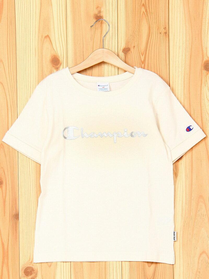 Champion×RADCHAP 【Champion×RADCHAP】ロゴ半袖Tシャツ ブランシェス カットソー