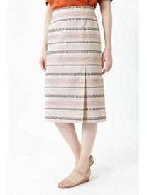 【SALE/55%OFF】◆ステッチジャカードタイトスカート ナチュラルビューティー スカート【RBA_S】【RBA_E】【送料無料】