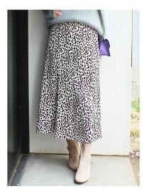 MERCURYDUO レオパード柄Aラインスカート マーキュリーデュオ スカート【送料無料】