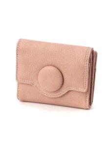 Pisoraro くるみボタン BOXミニウォレット ピソラロ 財布/小物 財布 ピンク ブラック ベージュ グレー