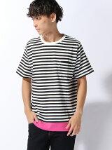【BROWNY STANDARD】(M)フェイクレイヤードポケットTシャツ