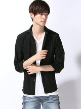 ハイテンションジャガード 7分袖ジャージーシャツ