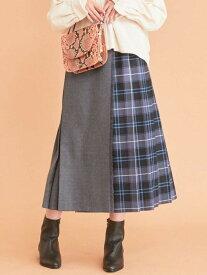 【SALE/30%OFF】BEAUTY & YOUTH UNITED ARROWS BY∴LOCHCARRONキルトチェックロングスカート ビューティ&ユース ユナイテッドアローズ スカート プリーツスカート/ギャザースカート グレー パープル【送料無料】