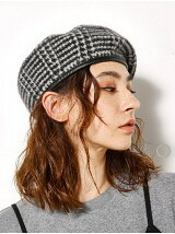 AUTUMN WOOL パイピング ベレー帽