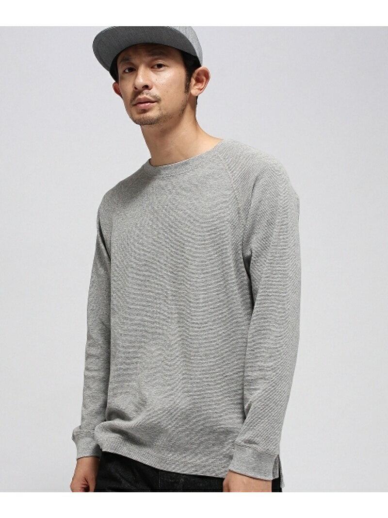 BASECONTROL 【WEB限定】ミニワッフル 裾同色スター刺繍 長袖Tシャツ ベース ステーション