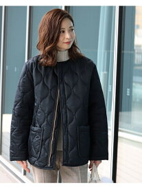 Demi-Luxe BEAMS Traditional Weatherwear / ARKLEY キルティング ブルゾン デミルクス ビームス コート/ジャケット ハーフコート ブラック【送料無料】