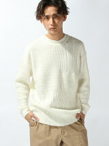 【WEGO】【BROWNY】(M)切替クルーネックセーター