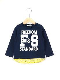 【SALE/60%OFF】天竺レイヤード風ロゴ長袖Tシャツ ベベ オンライン ストア カットソー【RBA_S】【RBA_E】