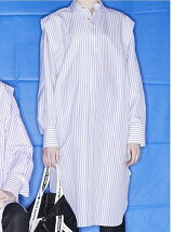 cotton linen stripekimono long shirt