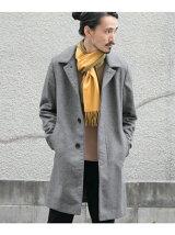 ウール/カシミヤ ステンカラーコート
