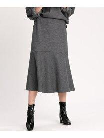 INED ウールジャージマーメイドスカート イネド スカート フレアスカート グレー ブラウン【送料無料】