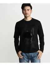 コラージュプリント ロングスリーブTシャツ