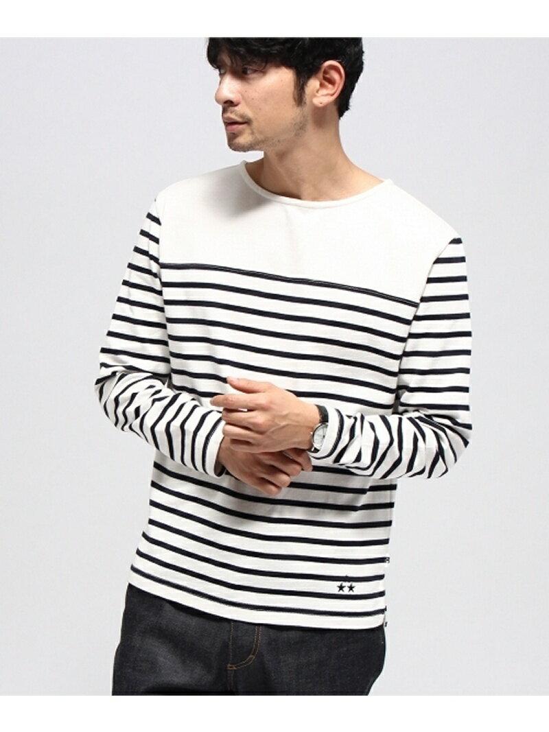 BASECONTROL 【ユニセックス】裾スター刺繍 マリンテイスト 長袖Tシャツ ベース ステーション【送料無料】