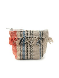 【SALE/50%OFF】Adam et Rope' Le Magasin 【Lilas Campbell】LP stripe fringe CVS porch el sol アダム エ ロペ ル マガザン バッグ ウエストポーチ ブルー ピンク