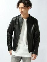 【WEGO】(M)シングルライダースジャケット