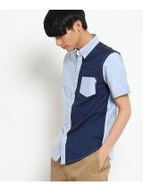 オックス半袖ボタンダウンシャツ