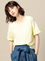 BY コットンロールアップポケットTシャツ