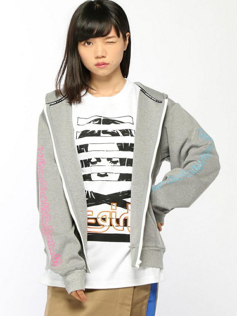 【SALE/43%OFF】X-girl ZIP-UP HOODIE NEON COL. PRINT エックスガール カットソー【RBA_S】【RBA_E】【送料無料】