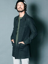 REACTIVE DYE STRETCH BLK DENIM SHOP COAT