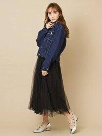 【SALE/50%OFF】titty&Co. チュールミディスカート ティティー アンド コー スカート スカートその他 ブラック ブルー グリーン ピンク パープル