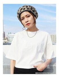 EMODA 【EMODA×ellesse】ラインロゴTシャツ エモダ カットソー Tシャツ ホワイト ブラック オレンジ【送料無料】