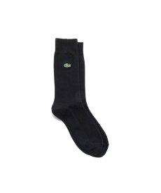 LACOSTE ヘリンボーンリンクス クルーソックス 27.5cm ラコステ ファッショングッズ ソックス/靴下 ブラック グレー ネイビー