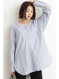 N. Natural Beauty Basic リラックスVネックシャツ エヌ ナチュラルビューティーベーシック* シャツ/ブラウス シャツ/ブラウスその他 ブルー ホワイト ベージュ【送料無料】