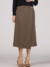 【SALE/77%OFF】Viaggio Blu ボタンカルゼラップモチーフスカート ビアッジョブルー スカート ロングスカート カーキ ブルー【送料無料】
