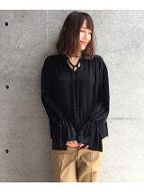 【WEB限定】マロンサテンシャツ