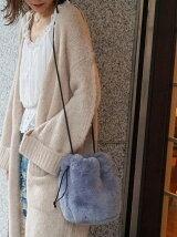【WEB限定】フェイクファー巾着バッグ