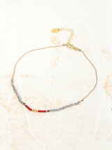 BEADED DNA/(W)native blue anklet
