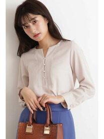 【SALE/10%OFF】N. Natural Beauty Basic ガルーダツイルシャツ エヌ ナチュラルビューティーベーシック* シャツ/ブラウス シャツ/ブラウスその他 ピンク ホワイト ブラウン【送料無料】