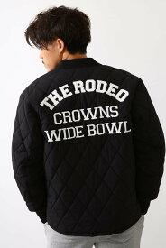 【SALE/30%OFF】RODEO CROWNS WIDE BOWL キルティングロゴブルゾン ロデオクラウンズワイドボウル コート/ジャケット ブルゾン ブラック ホワイト【送料無料】