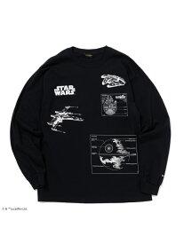 24karats 24karats/(M)STAR WARS Tee LS バーチカルガレージ カットソー Tシャツ ブラック ホワイト【送料無料】