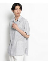 ALBINIストライプ オープンカラーシャツ