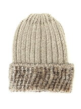 KNIT CAP W/FUR