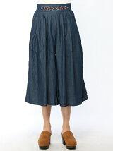 ウエスト刺繍スカーチョ