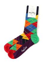 (W)【WEB店限定】Happy Socks アーガイル