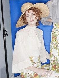 【SALE/50%OFF】beautiful people cozmorama sz silkytie blouse top ビューティフル ピープル シャツ/ブラウス シャツ/ブラウスその他 ホワイト グレー【送料無料】