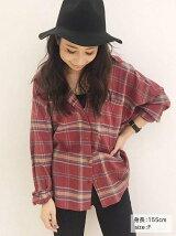 【Ca】ルーズチェックシャツ