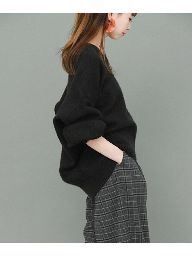KBF WEB限定 パフスリーブVネックニット ケービーエフ【送料無料】