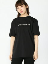 (W)【WEB店限定】【WILD THINGS】EMBROIDER T-SHIRT