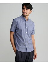 [TALL&LARGEサイズ]ダブルカラーワッペン半袖オックスシャツ