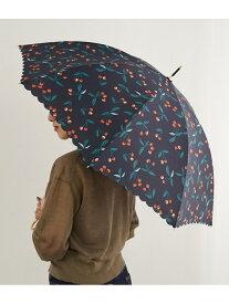 ROPE' PICNIC PASSAGE 【晴雨兼用】チェリー柄アンブレラ ロペピクニック ファッショングッズ 日傘/折りたたみ傘 ネイビー