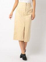 細コールタイトスカート
