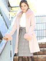 襟袖ファーコート