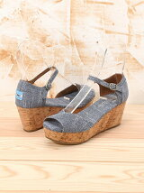 W PLAT.WEDGE Chambray