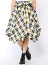 【Rydia】チェックレイヤードイレヘムスカート